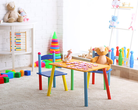 Aesthetically designed child space